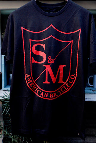 S & M bikes -S&M Big Shield Tee Red -CLOTHING -Anchor BMX