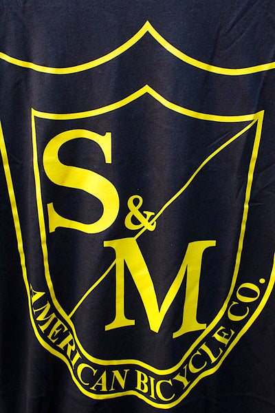 S & M bikes -S&M Big Shield Tee Yellow -CLOTHING -Anchor BMX