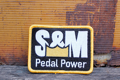 S&M Bikes Pedal Power Patch - Anchor BMX