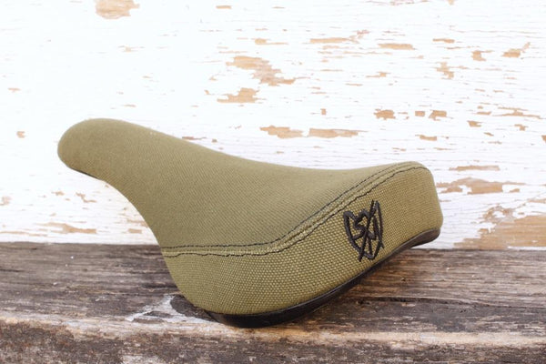 S&M Bikes Stealth Pivotal Seat Canvas Green - Anchor BMX