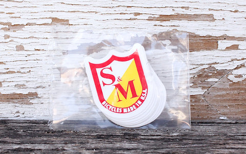 S & M bikes -S&M Bikes USA Shield Small Stickers 10pk -Magazines + stickers+patches -Anchor BMX
