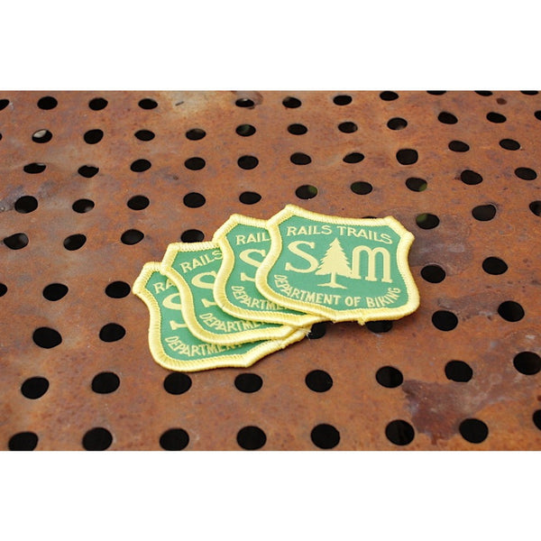S & M bikes -S&M Department Of Biking Patch -Magazines + stickers+patches -Anchor BMX