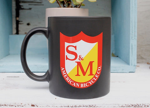 S & M bikes -S&M Matte Black Coffee Mug -ACCESSORIES -Anchor BMX