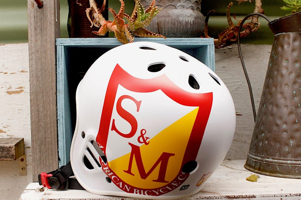 S&M Protec Full Cut Certified Helmet White - Anchor BMX