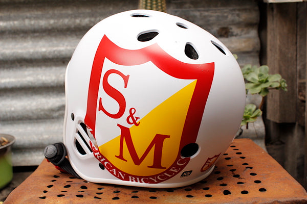 S&M PROTEC FULL CUT CERTIFIED HELMET WHITE
