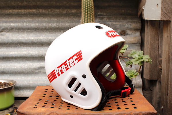 S & M bikes -S&M Protec Full Cut Certified Helmet White -HELMETS + PADS + GLOVES -Anchor BMX