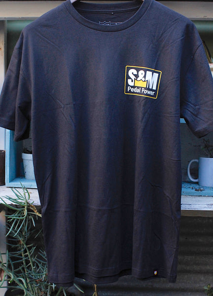 S & M bikes -S&M Pedal Power Tee -CLOTHING -Anchor BMX