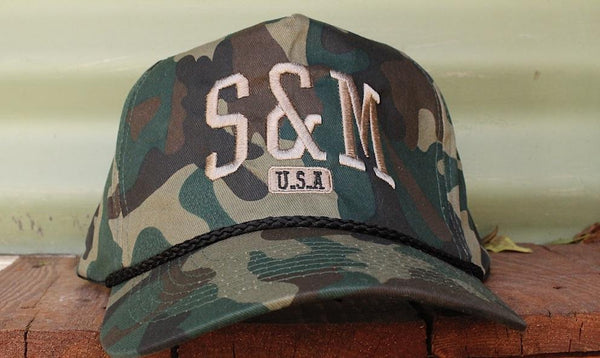 S & M bikes -S&M SMU 5 Panel Snapback -HATS + BEANIES + SHADES -Anchor BMX