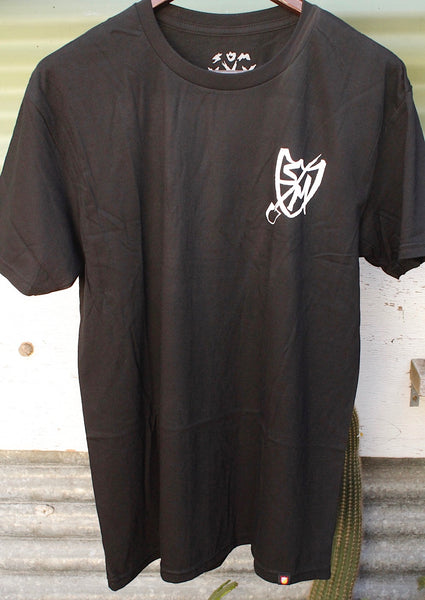 S&M Shovel Shield Tee Blk