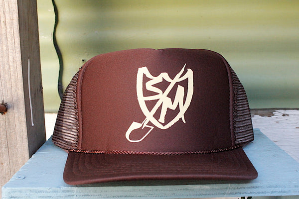 S&M Shovel Shield Trucker Hat Brown