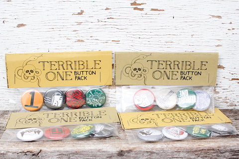 T1 ASSORTED BUTTONS 5 PACK