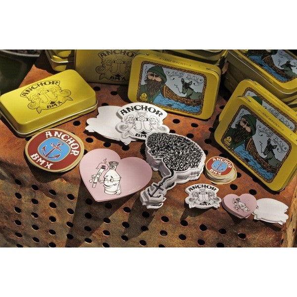 Anchor BMX -The Anchor Cap'N Patches Sticker Tin -Magazines + stickers+patches -Anchor BMX