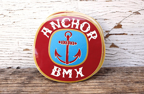 THE ANCHOR BMX BEER STICKER 10PK