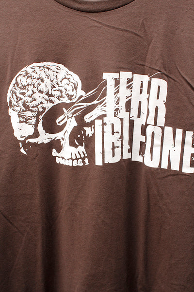 TERRIBLE ONE -Terrible One Brainskull Tee Brown -CLOTHING -Anchor BMX