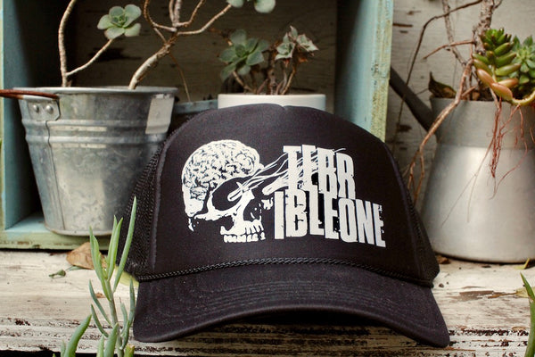 TERRIBLE ONE -Terrible One Brainskull Trucker Hat -HATS + BEANIES + SHADES -Anchor BMX