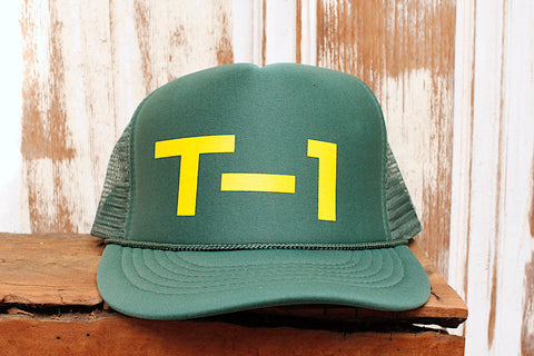 Terrible One Badge Trucker Hat Green-Gold