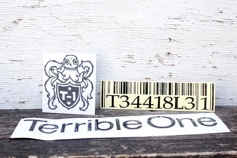 Terrible One Barcode Sticker Pack