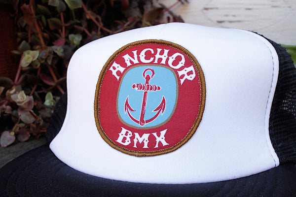 Anchor BMX -The Anchor Beer Trucker Blk/White -HATS + BEANIES + SHADES -Anchor BMX