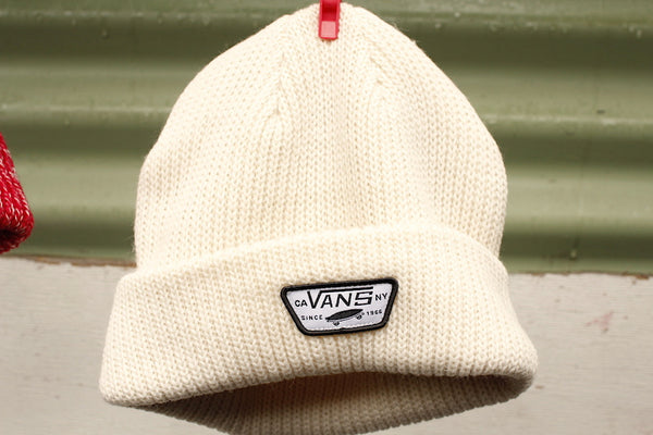 VANS MINI FULL PATCH BEANIE WHITE