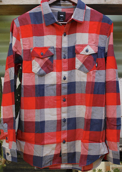 Vans Box Flannel Shirt Red