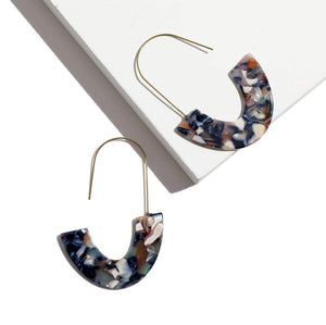 Half Moon Resin Earrings