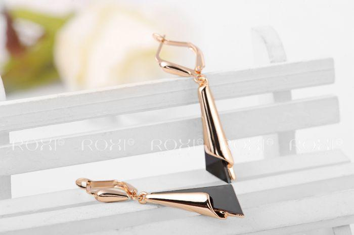 Coseey Louise Asymmetrical Triangle Earrings