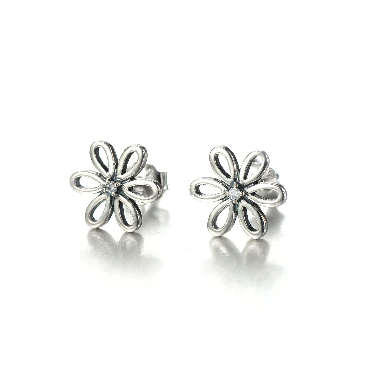 Earring for women, Silver Earrings, Earrings for Party,  Girls Earrings, 925 Sterling Silver Flower Stud Earrings-Jewelry