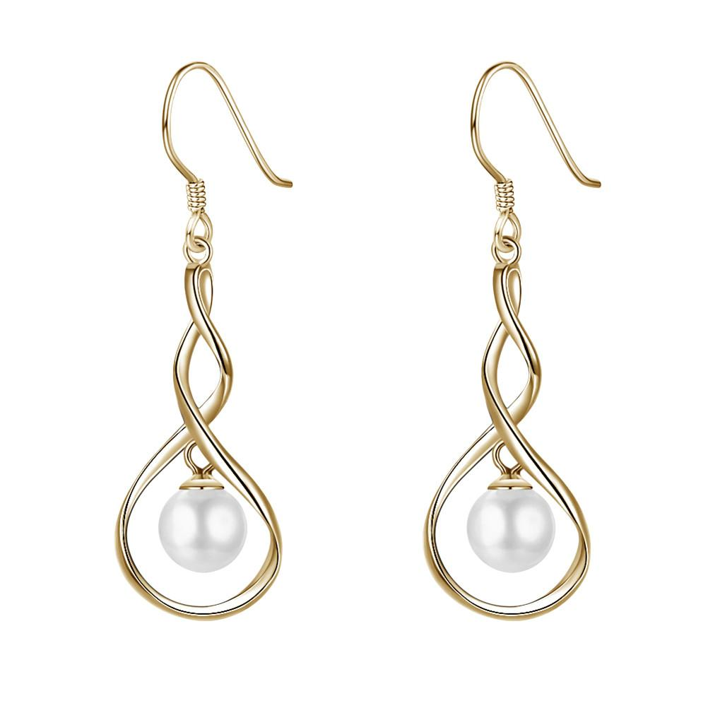 A1giftshop jewelry earrings for  weddings Sterling Silver Pearl Drop Earrings
