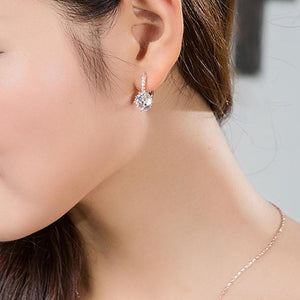 Crystal Drop Earrings-Jewerly