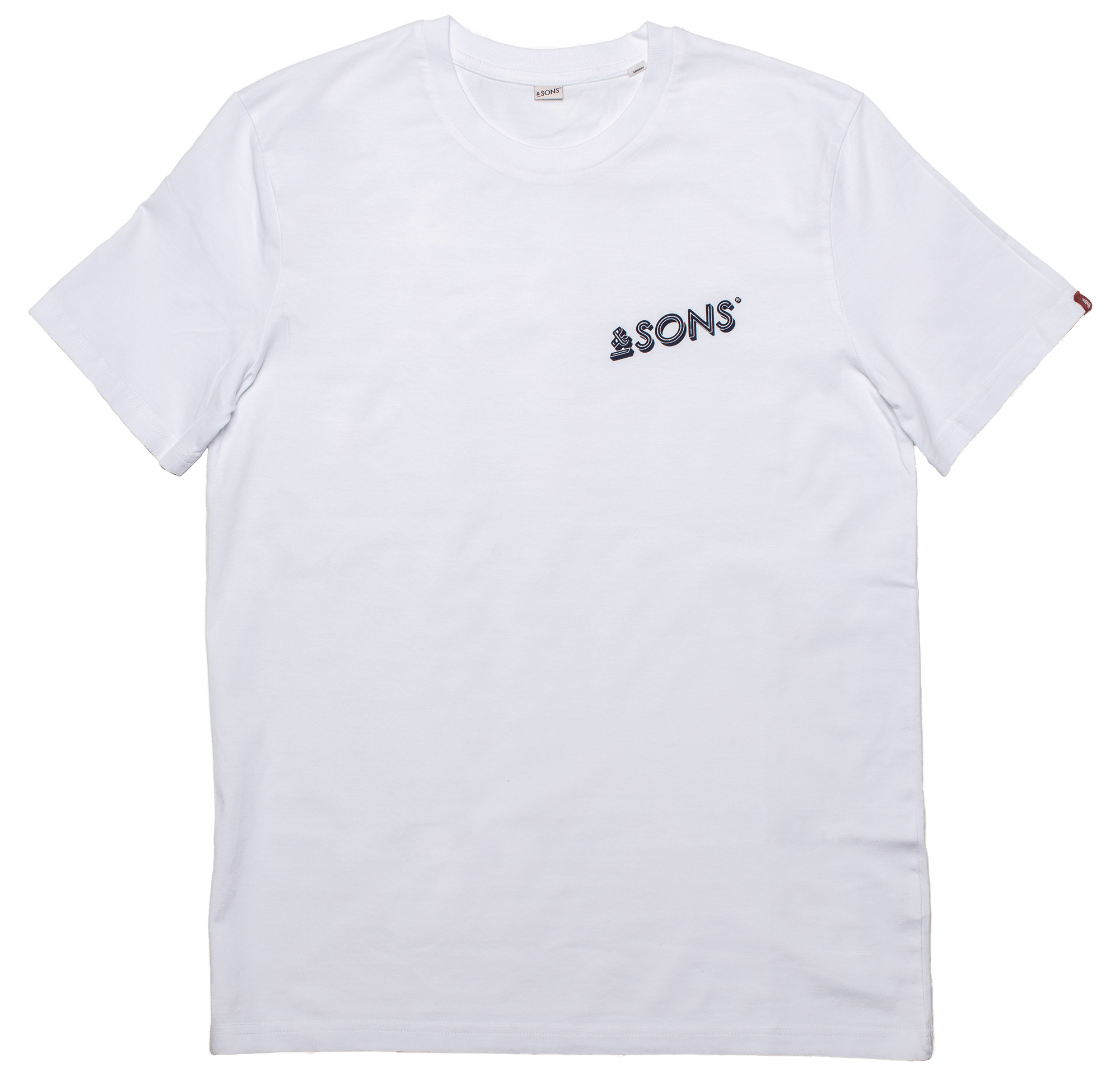 &SONS Logo Mens T-Shirt White