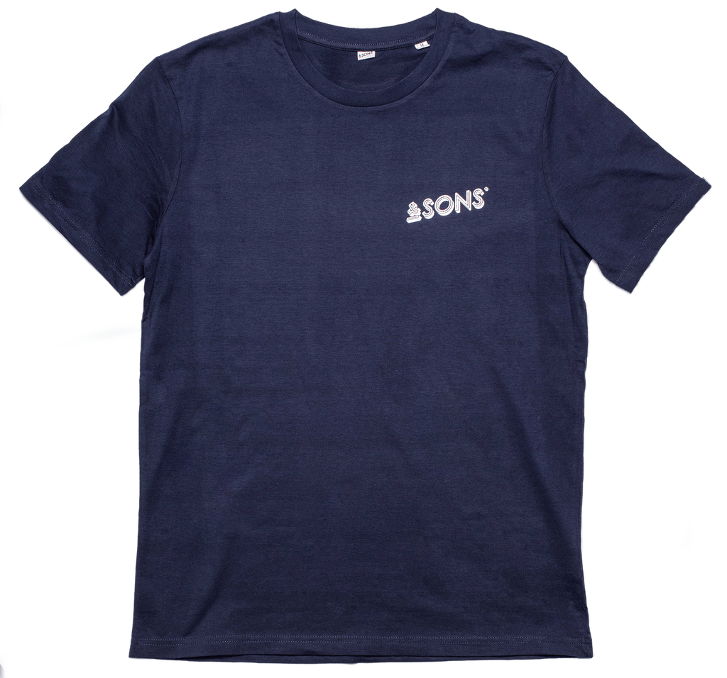 &SONS Logo Mens T-Shirt Navy