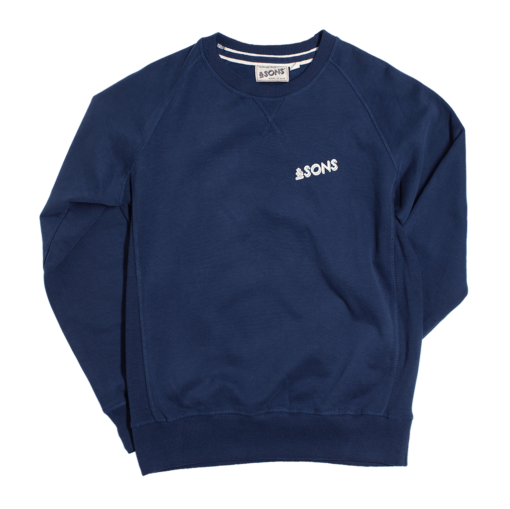 &SONS Logo Sweatshirt Navy Unisex Shirts &sonsclothing