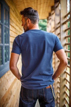 Boxer No.4 T-Shirt Navy Tops &sonsclothing