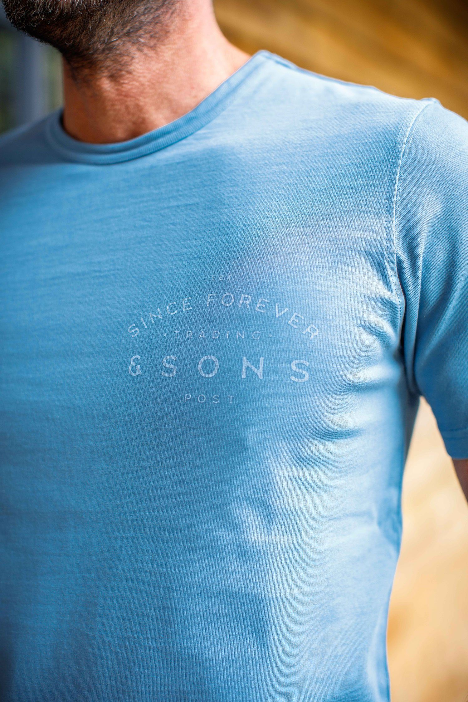 &SONS Boxer Trading Post T-Shirt Blue