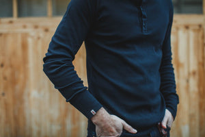 &SONS Black Elder Henley Shirt