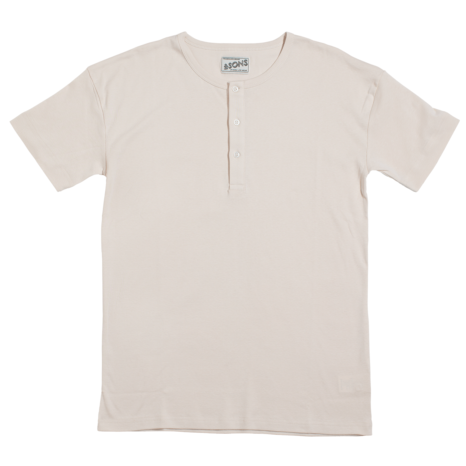 &SONS The Original Elder Henley Short Sleeve Shirt Raw