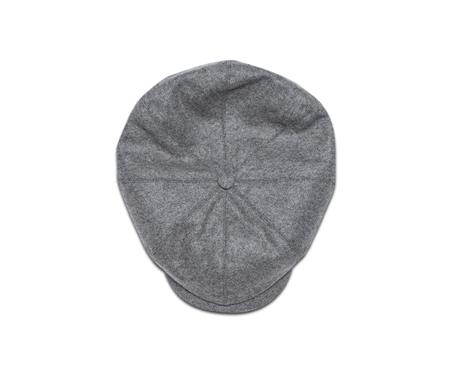&SONS Jackson Traditional Baker Boy Hat - Dove Grey