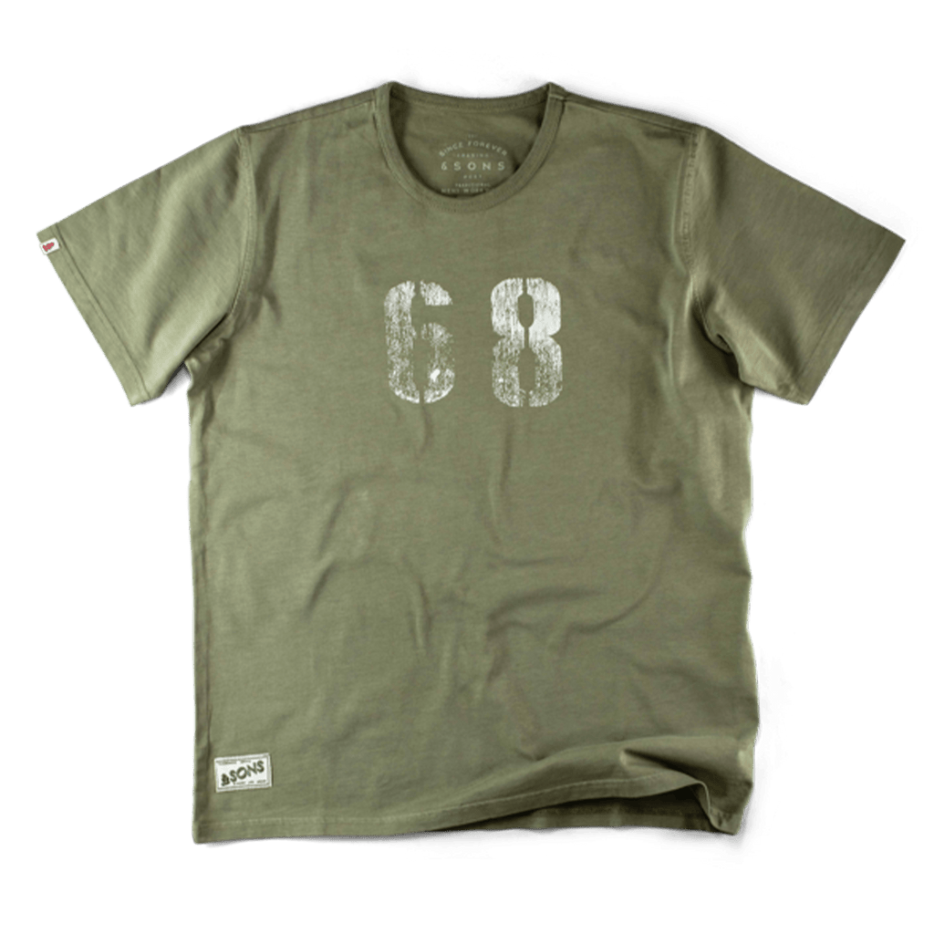 &SONS 1968 Army Green T-Shirt Tops &sonsclothing