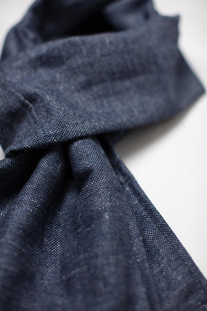 &SONS Hemingway Scarf Denim Blue accessories &sonsclothing