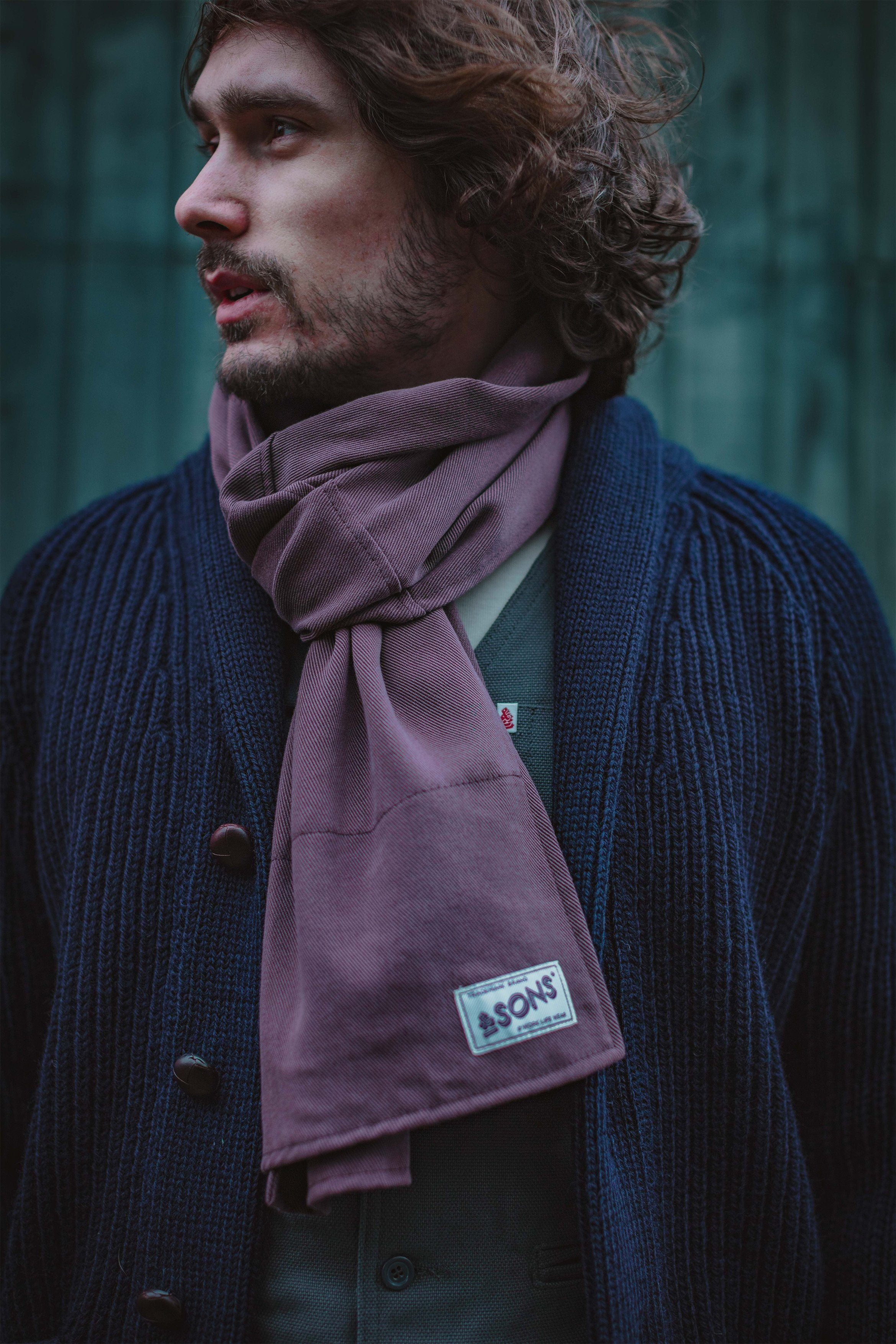 &SONS Hemingway Scarf Mulberry Dust