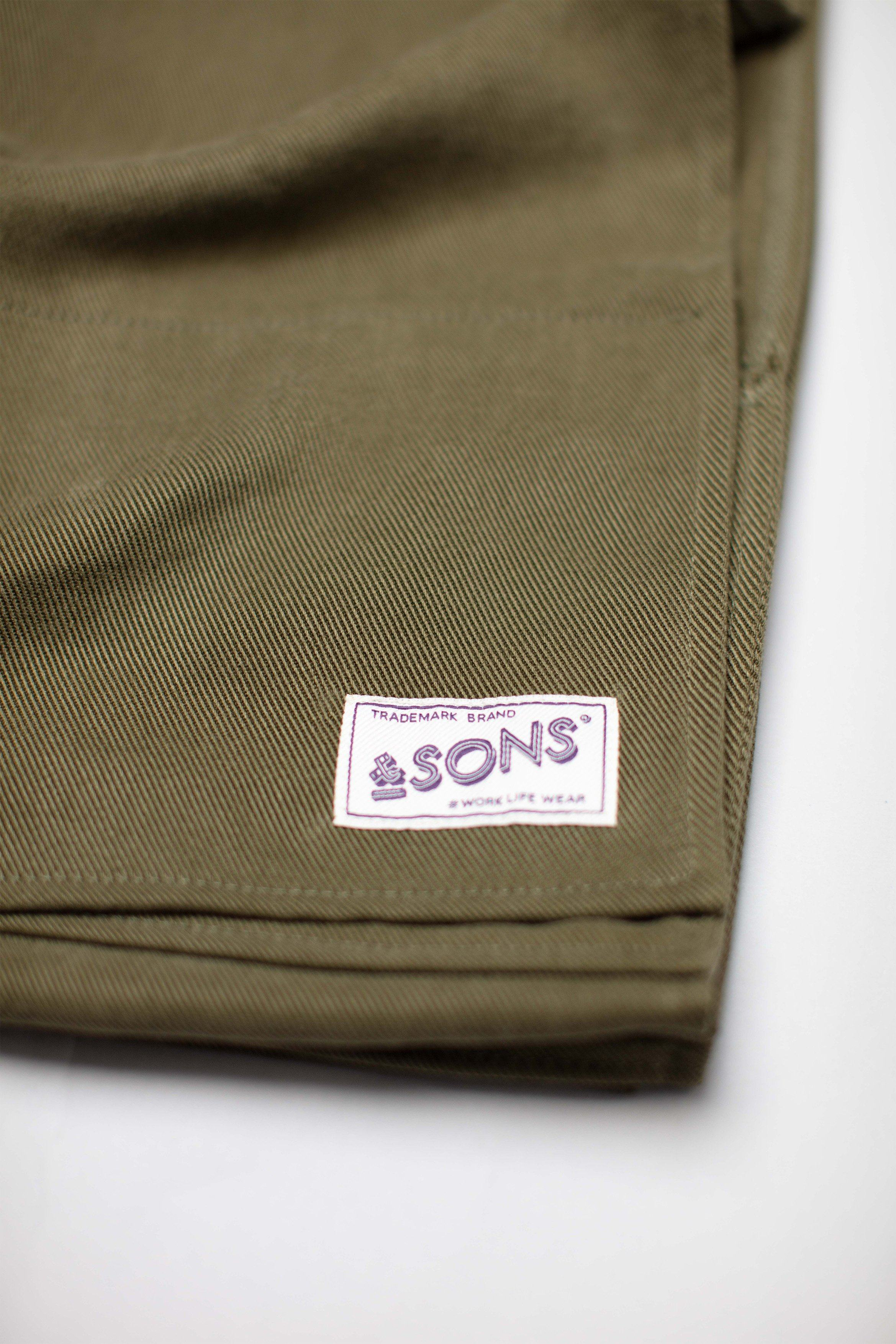 &SONS Hemingway Scarf Olive Dust