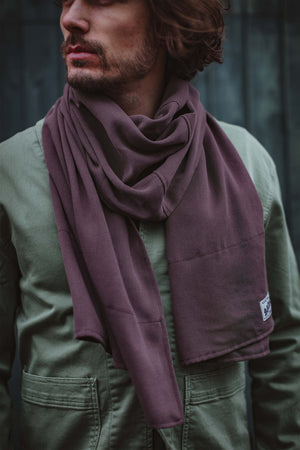 &SONS Hemingway Scarf Mulberry Dust accessories &sonsclothing