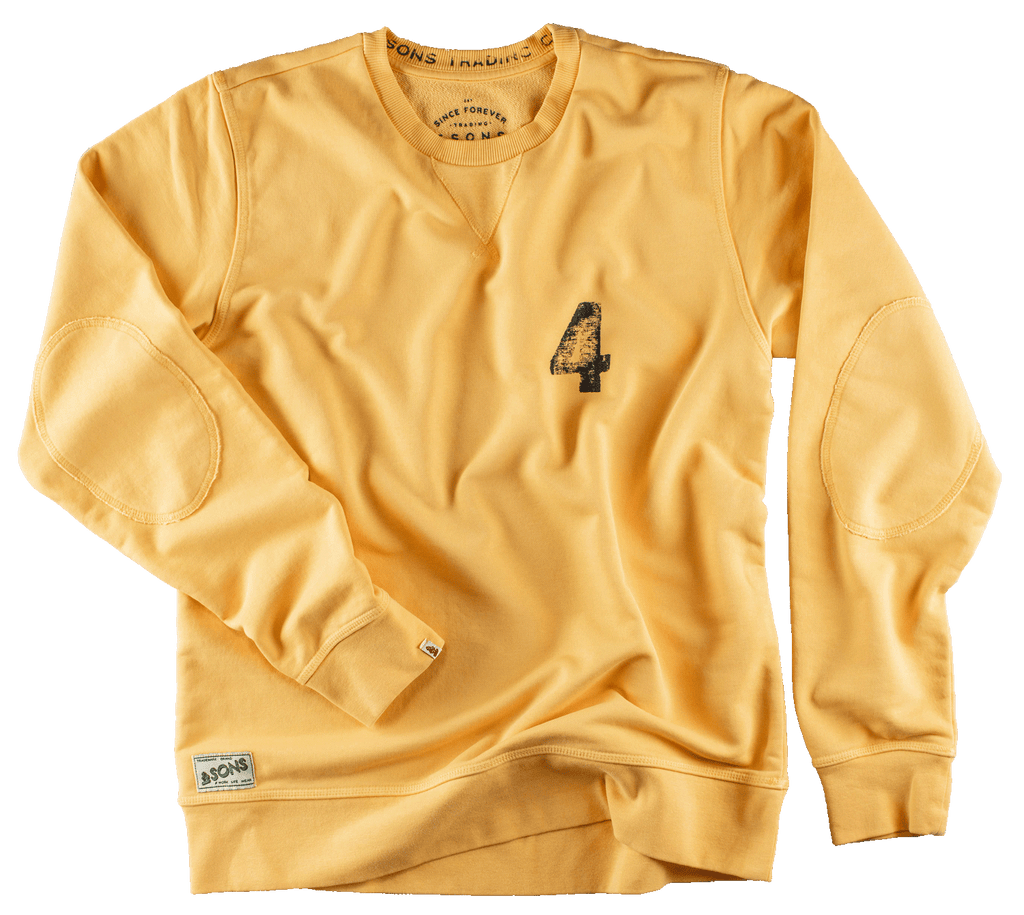 &SONS Boxer No.4 Sweatshirt Yellow Sweatshirts &sonsclothing