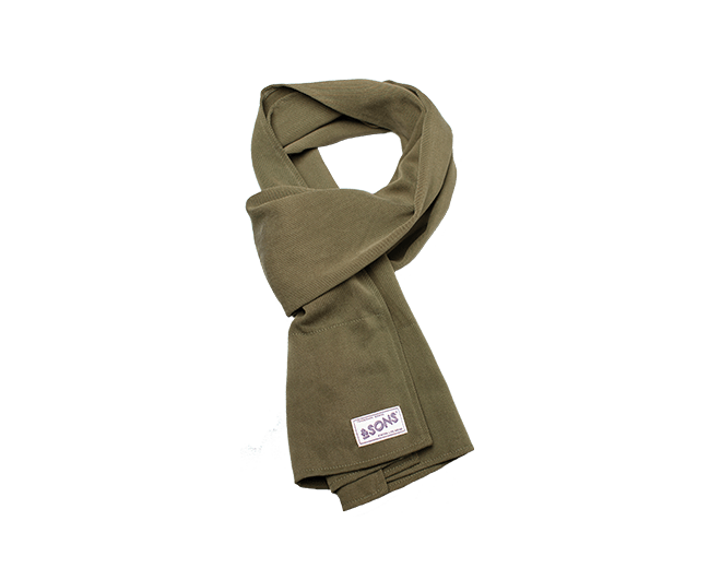&SONS Hemingway Scarf Olive Dust accessories &sonsclothing