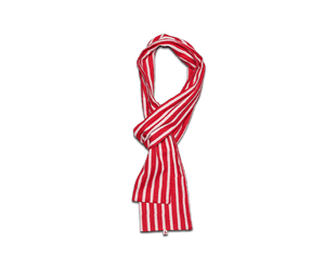 &SONS Red & White Striped Japanese Ikat Scarf