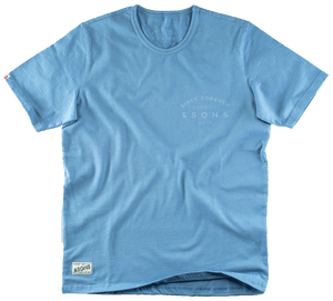 &SONS Boxer Trading Post T-Shirt Blue tops &sonsclothing