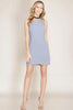 Grey Blue Fitted Dress