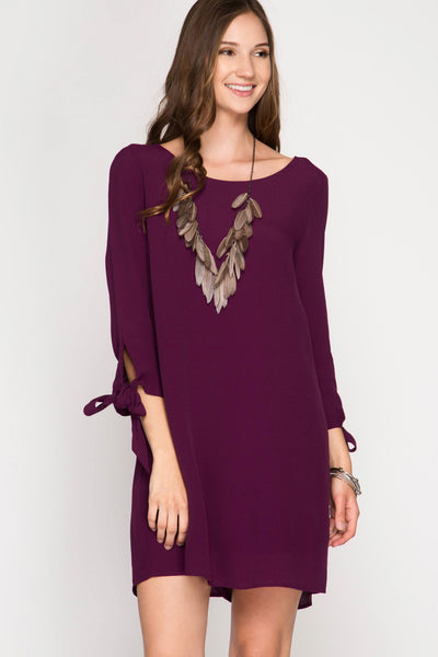 Merlot Sheath Dress