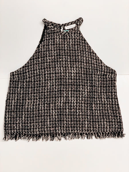 Tweed Halter Neck