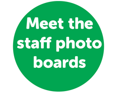 Meet the staff photo boards meet and greet staff boards photo boards photo boards